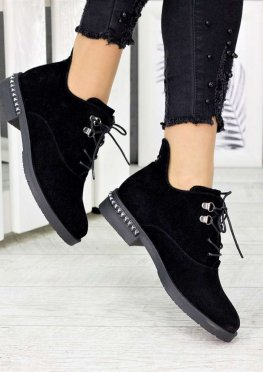 Ботинки замшевые женские