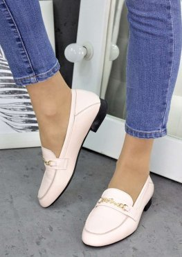 Туфли кожаные пудра Пегги