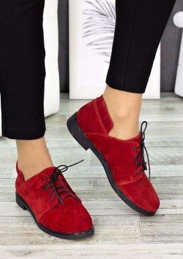 Туфли красные замшевые