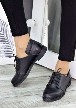 Туфли черные кожаные