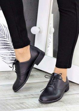 Туфли черная кожа Эвелин