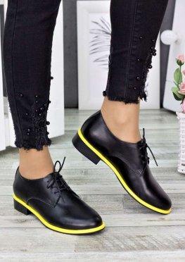 Туфли оксфорды желтый неон
