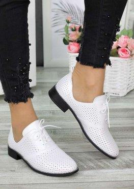 Туфли кожаные молоко (лето)