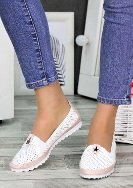 Туфли мокасины летние кожаные