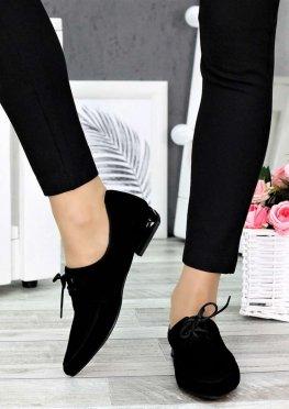 Туфли лодочки на низком ходу черные