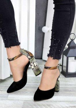 Туфли рептилия замша