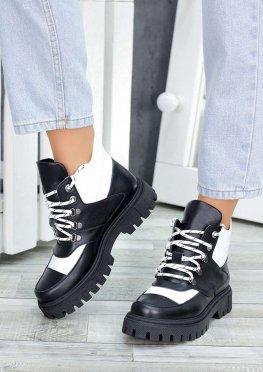 Ботинки трапперы кожаные
