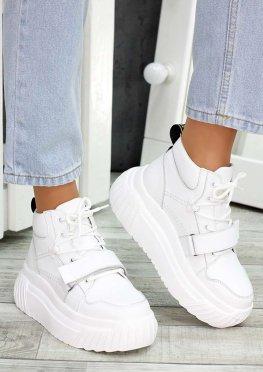 Ботинки белые кожаные Euphoria