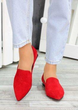 Туфли лодочки красная замша Magic