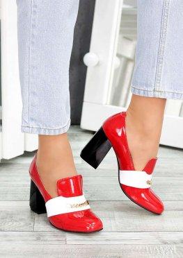 Туфли кожа красный лак