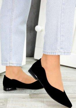 Туфли черная замша Volna