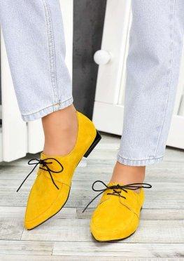 Туфли лодочки горчица