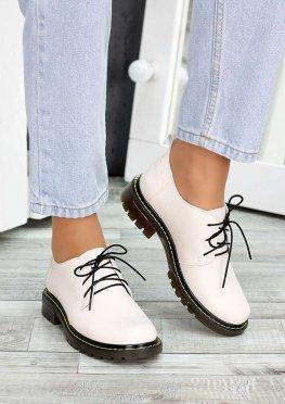 Туфли оксфорды беж кожа