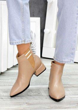 Ботинки челси козаки беж кожа