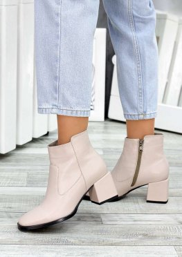 Ботинки пудра кожа Brandi