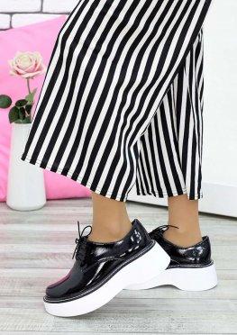 Туфли черная лак-кожа