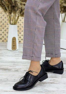 Туфли оксфорды черная кожа