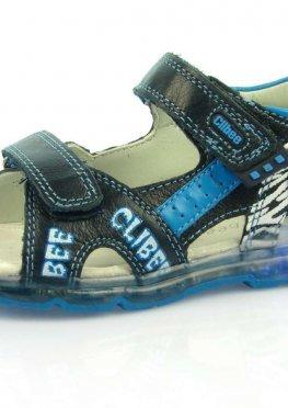 Босоножки детские с мигалками Clibee:F-237 т.Синий+св.Синий