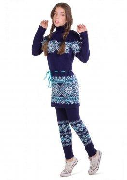 Платье Берегиня, бирюзовый