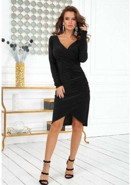Черное короткое мерцающее платье