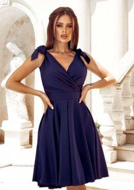 Коктейльное платье миди в синем цвете
