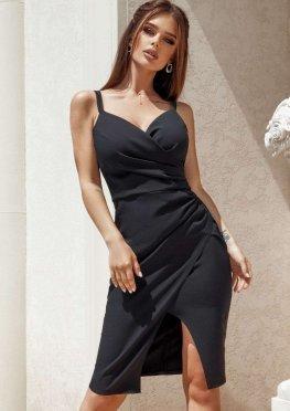 Короткое коктейльное платье футляр черное