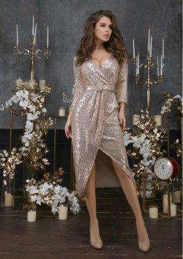 Праздничное платье с пайетками