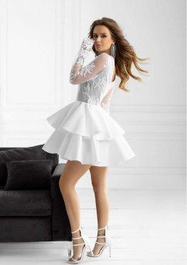 Вечернее платье мини c юбкой-полусолнце