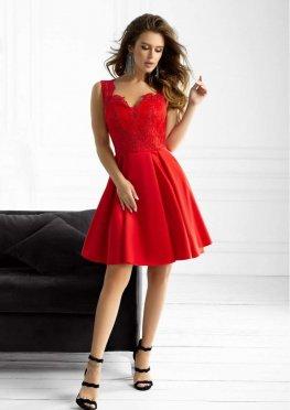 Коктейльное атласное платье