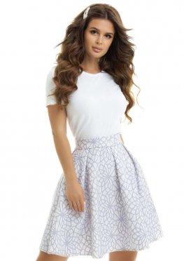 Расклешенная юбка с карманами