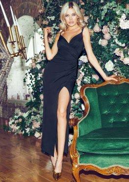 Вечернее платье на бретелях черного цвета