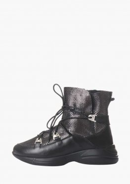 Теплые кожаные ботиночки на цигейке