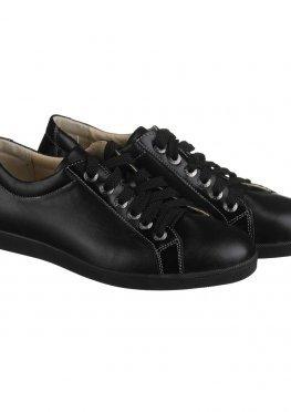 Черные кожаные кеды
