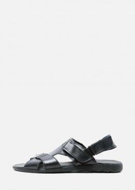 Мужские кожаные летние сандали с липучкой