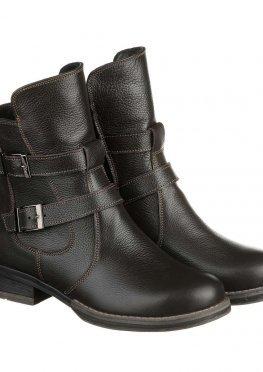 Модные ботинки коричневого цвета с ремешками