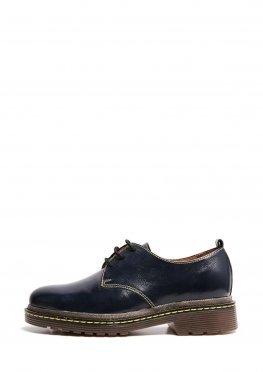Синие лаковые туфли дерби
