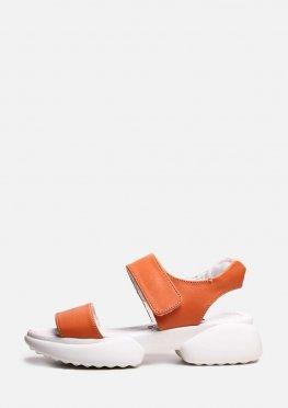 Оранжевые спортивные босоножки