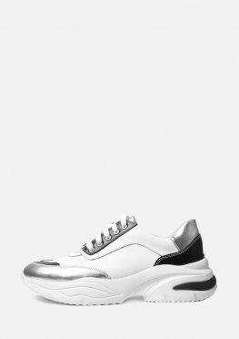 Кожаные светлые кроссовки