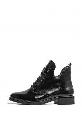 Женские лаковые ботинки на низком ходу