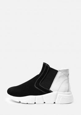 Стильные ботинки в сочетании кожа и замш