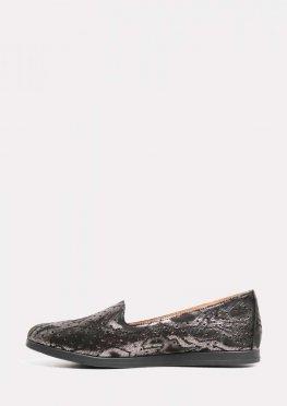 Кожаные туфли на низком ходу без шнурков
