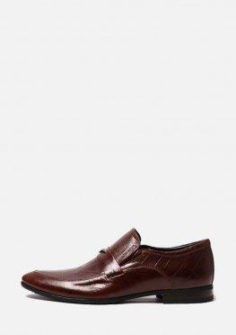 Мужские кожаные туфли коричневого цвета