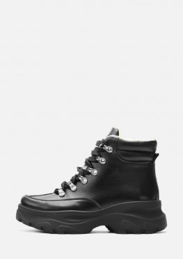 Спортивные короткие кожаные ботинки