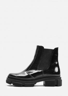 Лаковые демисезонные ботинки без застежек