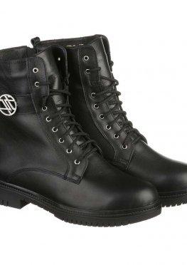 Высокие ботинки из натуральной кожи со шнуровкой