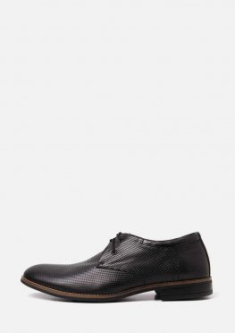 Черные кожаные мужские туфли