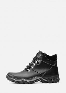 Мужские зимние кожаные спортивные ботинки