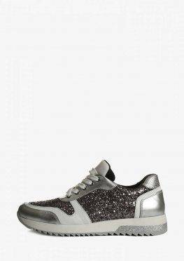 Стильные женские кроссовки с блестящими вставками