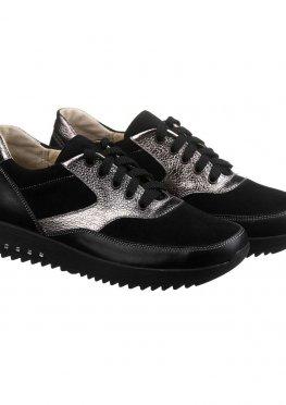 Стильные женские кроссовки черного цвета