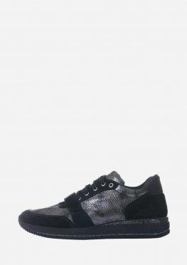 Женские кроссовки с липучкой и шнурками